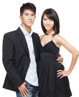Happy Chinese Couple from one of the Chinese Dating sites we recommended.